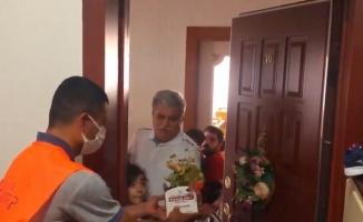 Gaziantep'te babalara çiçekli sürpriz