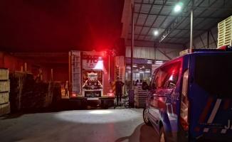 Kocaeli'de ahşap palet fabrikasında çıkan yangın söndürüldü