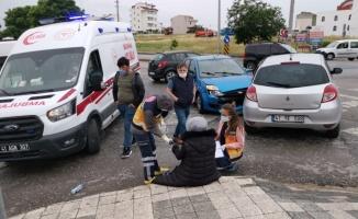 Çayırova'da iki otomobil çarpıştı: 1 yaralı