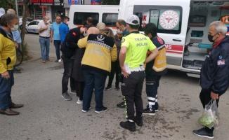 Kocaeli'de otomobilin çarptığı kadın yaralandı