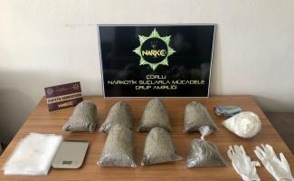 Tekirdağ'da ormanlık alanda 2 kilo 380 gram bonzai ele geçirildi