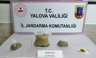 Yalova'da otobüs yolcusuna ait valizde 1 kilo 200 gram sentetik uyuşturucu ele geçirildi