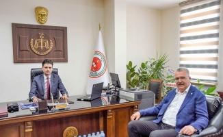 Ali Özkan'dan Başsavcı Gümüş'e ziyaret