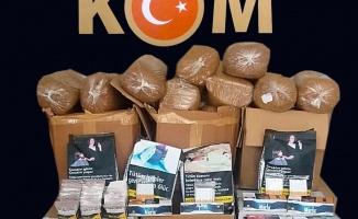 Kocaeli'de gümrük kaçağı makaron ve tütün operasyonu