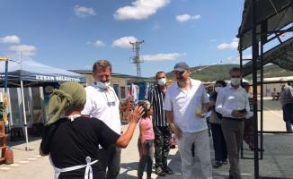 Edirne Valisi Canalp, Keşan Belediyesi Yöresel Ürünler Pazarı'nı ziyaret etti