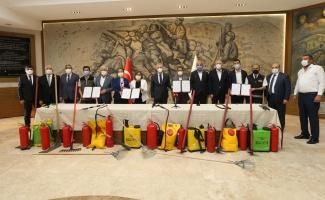 Gaziantep'in köylerinde yangına ilk müdahale eğitimi verilecek