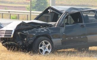 Kırklareli'nde şarampole devrilen otomobilin sürücüsü yaralandı