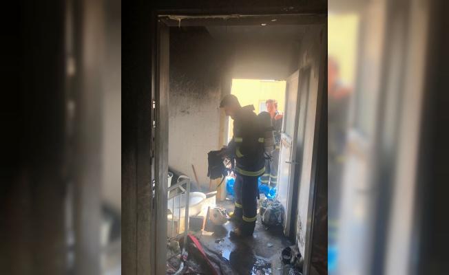 Lüleburgaz'da yanan ev kullanılamaz hale geldi
