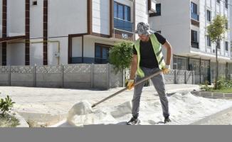 Lüleburgaz'da yol yapım çalışmaları sürüyor