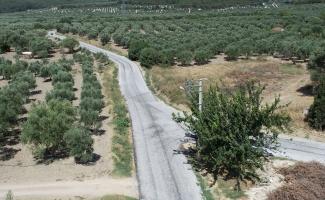 Manisa Akhisar'da grup yolunda asfalt çalışma tamamlandı