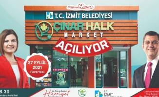 Başkan Hürriyet ve CHP'li Özel Çınar Halk Marketi açıyor