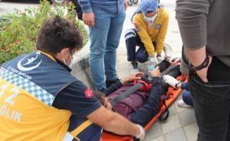 Bilecik'te devrilen motosikletin sürücüsü yaralandı