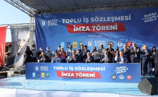 Bursa Büyükşehir Belediyesinde toplu iş sözleşmesi imzalandı