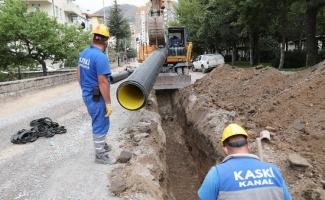 KASKİ'den yağmur suyu çalışması