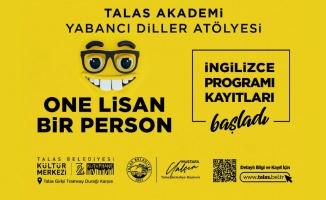 Kayseri Talas Belediyesi'nden İngilizce kursu