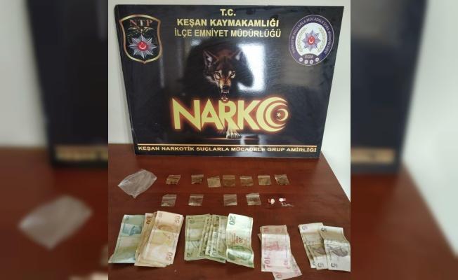 Keşan'da uyuşturucu ele geçirildi, 1 şüpheli yakalandı