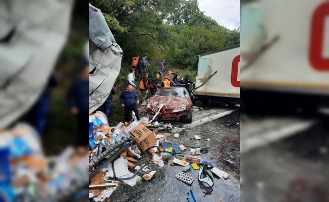 Kırklareli'nde zincirleme trafik kazasında 1 kişi öldü, 5 kişi yaralandı