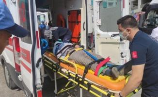 Orhangazi'de terminalde bir minibüsün çarptığı kişi yaralandı