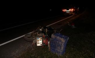Taraklı'da devrilen motosikletten düşen sürücü ağır yaralandı