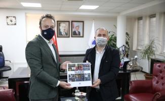 AA Sakarya Bölge Müdürü Velioğlu'ndan SAÜ Rektörü Savaşan'a ziyaret