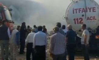 Adıyaman'da çırçır fabrikasında büyük yangın