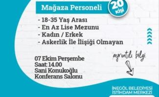 Bursa İnegöl'den 20 mağaza personeli alınacak