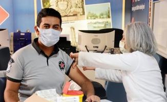 Didim Belediyesi'nde Covid 19 aşısı sırası