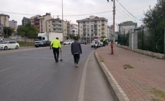 Gebze'de otomobilin çarptığı yaya yaralandı