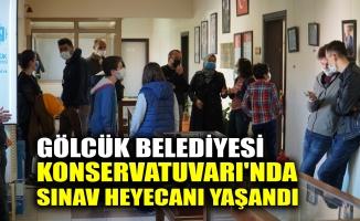 Gölcük Belediyesi Konservatuvarı'nda sınav heyecanı yaşandı