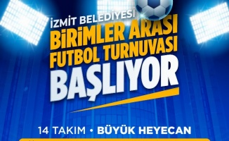 İzmit'te birimler arası futbol mücadelesi başlıyor