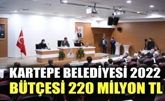 Kartepe Belediyesi 2022 bütçesi 220 milyon tl