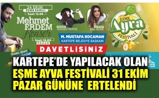 Kartepe'de yapılacak olan Eşme Ayva Festivali ertelendi