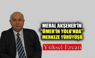 """Meral Akşener'in """"ÖMER'in YOLU'nda"""" merkeze yürüyüşü"""
