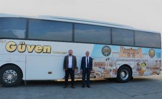 Salihli Güven otobüslerine, TSO'dan tanıtım kaplaması