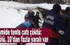Camide tente çatı çöktü: Ölü ve yaralılar var
