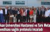 Okan Üniversitesi Hastanesi ve Türk Metal Sendikası sağlık protokolü imzaladı