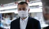 Başkan Büyükakın: Maske üretiminde kapasiteyi artırıyoruz