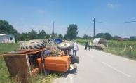 Traktör ile kamyonet çarpıştı: 1 yaralı