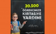20 bin 522 öğrenciye 3 milyonluk kırtasiye yardımı