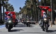 """Marmaris Emniyeti#039;nden motorize Kadına Şiddete Hayır"""" korteji"""