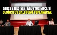 Gebze Belediyesi Ağustos Meclisi 3 Ağustos Salı toplanacak