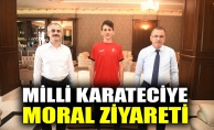 Milli karateciye moral ziyareti