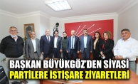Başkan Büyükgözden siyasi partilere istişare ziyaretleri