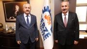 Başkan Büyükgöz'e, Hakkari'den konuk başkan