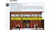 Online eğitimde ücretsiz internet Büyükşehir'den