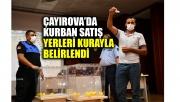 Çayırova'da kurban satış yerleri kurayla belirlendi