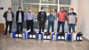 Kartepe'de otobüslere dezenfektan cihazı verildi