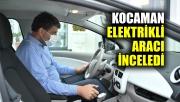Kocaman, elektrikli aracı inceledi