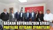 Başkan Büyükgöz'den siyasi partilere istişare ziyaretleri