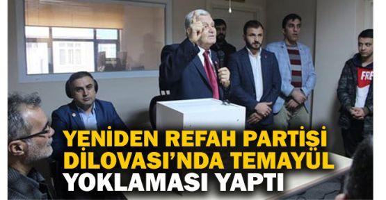 Yeniden Refah Partisi Dilovası'nda temayül yoklaması yaptı